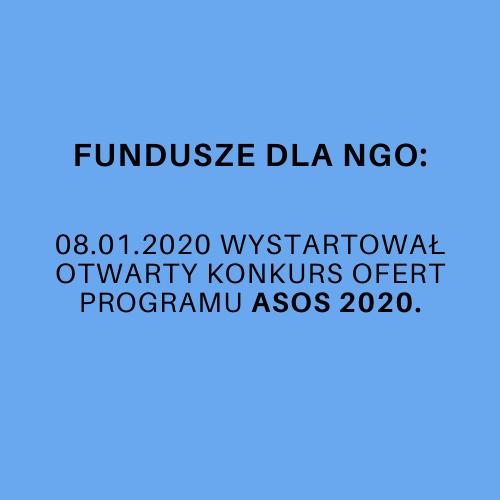Otwarty konkurs ofert Programu ASOS 2020